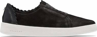 Cole Haan Grandpro Spectator Sneaker - Black Nubuck/Black Leather (W12536)