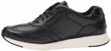 Cole Haan Grandpro Running Sneaker Black Leather/Optic White Men