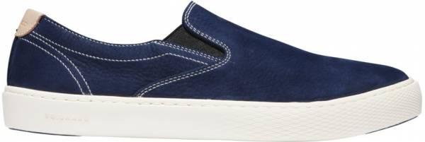 Cole Haan Grandpro Deck Slip-On Sneaker Marine Blue Nubuck