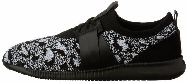 Cole Haan StudioGrand Knit Sneaker Black/ White Knit