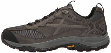 Columbia Terrebonne Shoe - Dark Grey, Red Element