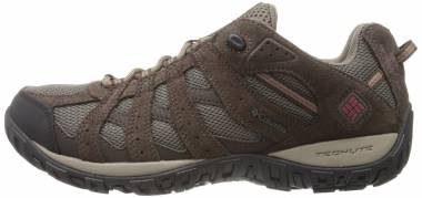 Columbia Redmond Low Waterproof  - Mud, Garnet Red
