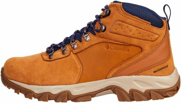 Columbia Newton Ridge Plus II Suede Waterproof - Caramel/Blue Shadow (1746412273)