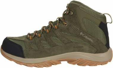 Columbia Crestwood Mid Waterproof - Hiker Green/Light Orange (1765381371)