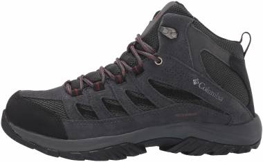 Columbia Crestwood Mid Waterproof - Dark Grey/Deep Rust (1765382089)