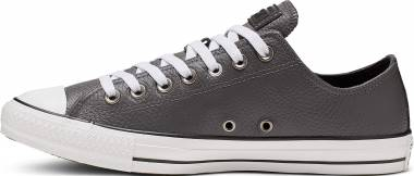 Converse Chuck Taylor All Star Leather Ox - Carbon Grey White Black
