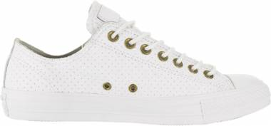 Converse Chuck Taylor All Star Leather Ox - White/Biscuit/White