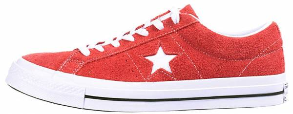 huge selection of 7d7cc 0ef50 Converse One Star Premium Suede Low Top Red