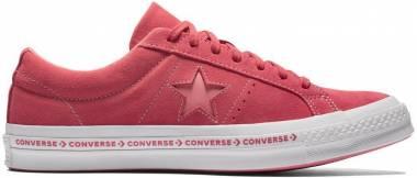 Converse One Star Premium Suede Low Top - Paradise Pink/ Geranium Pink (159815C)