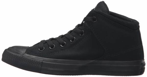 58850d5cd68c61 Converse Chuck Taylor All Star High Street Mono Canvas Hi Black Black Black