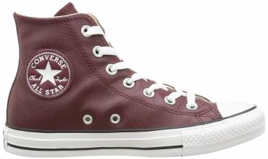 Converse Chuck Taylor All Star Leather High Top - Deep Bordeaux