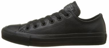 Converse Chuck Taylor All Star Leather Low Top - Black Monochrome