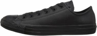 Converse Chuck Taylor All Star Leather Low Top - Black Monochrome (135253C)