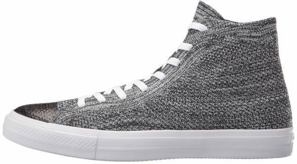 b3c30b837053ad Converse Chuck Taylor All Star x Nike Flyknit High Top Black Wolf Grey White