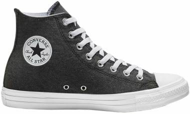 Converse Chuck Taylor All Star Stone Wash High Top - Black White (163183C)