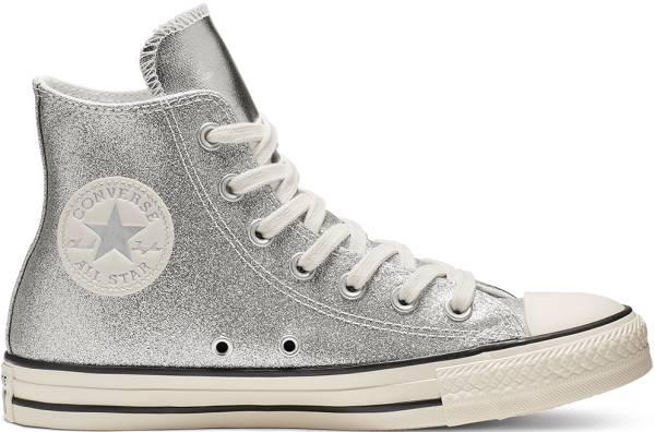 Converse Chuck Taylor All Star Shiny Metal High Top - Silver