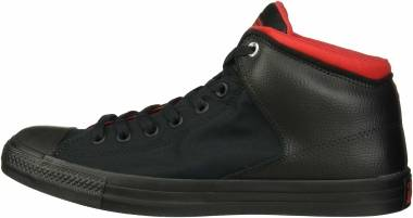 Converse Chuck Taylor All Star High Street High Top - Black/Black/Enamel Red (164883C)