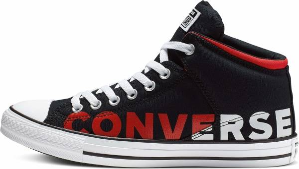 Converse Chuck Taylor All Star High Street High Top - Black/White/Enamel Red (165433F)