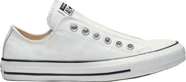 Converse Chuck Taylor All Star Leather Slip - White/White/Black (164975C)