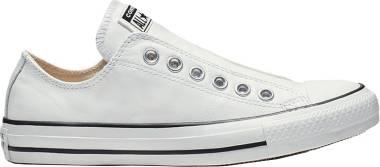 Converse Chuck Taylor All Star Leather Slip - White/White/Black (164975C)