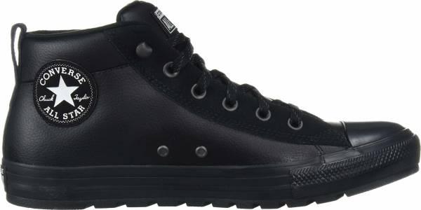 Converse Chuck Taylor All Star Street Mid - Black Black White (166071C)