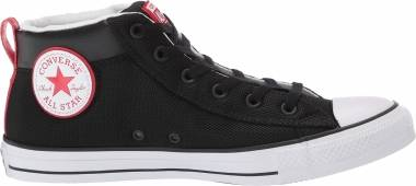 Converse Chuck Taylor All Star Street Mid - Nero Black White Enamel Red 000 (163404C)