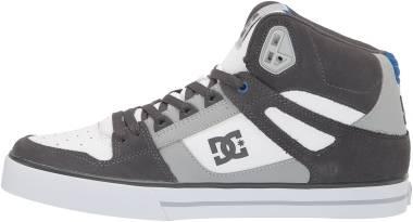 DC Pure High-Top - Grey / White / Blue (ADYS400043XSWB)