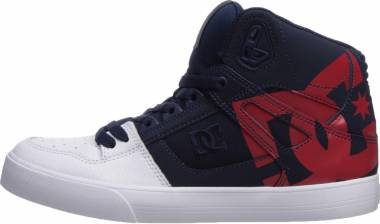 DC Pure High-Top  - Navy Red