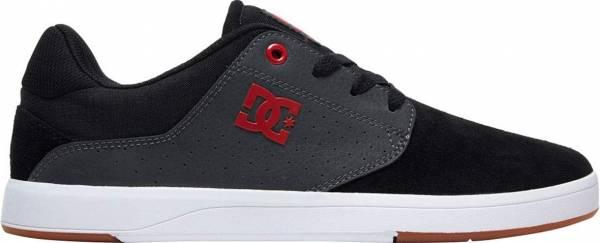 DC Plaza S - Black Dk Grey Athletic Red