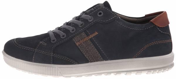 Ecco Ennio Retro Sneaker - Black/Cognac