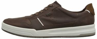 Ecco Jack Tie Cocoa Brown/White/Camel Men