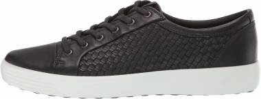 Ecco Soft 7 Sneaker - Black Plaited (44034401001)