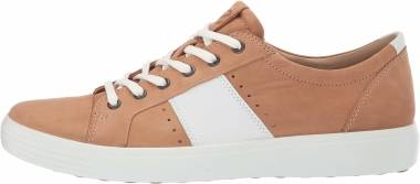 Ecco Soft 7 Sneaker - Cashmere/White Summer Sneaker (44033450665)