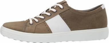 Ecco Soft 7 Sneaker - Grape Leaf/White Summer Sneaker