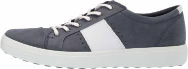 Ecco Soft 7 Sneaker - Marine/White Summer Sneaker (44033453326)