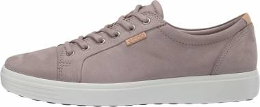 Ecco Soft 7 Sneaker - Warm Grey/Powder Nubuck (43000450666)