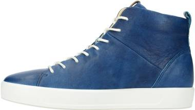 Ecco Soft 8 High Top - Indigo 5 Powder