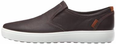 Ecco Soft 7 Slip On Black With Black Sole Men