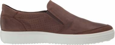 Ecco Soft 7 Slip On - Cocoa Brown Oil Nubuck (44039402482)
