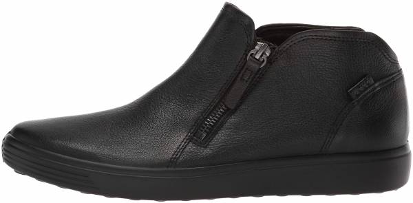 Ecco Soft 7 Low Cut Zip Bootie - Black (43024301001)