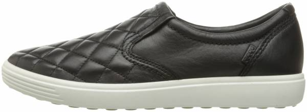 Ecco Soft 7 Quilted Slip On - Black