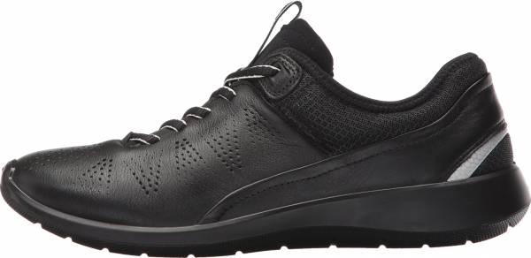 Ecco Soft 5 Sneaker - Black/Black/Concrete