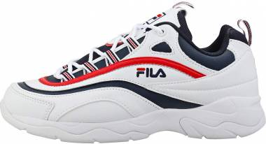 Fila Ray   - Black / Fila Red / Metallic Silver