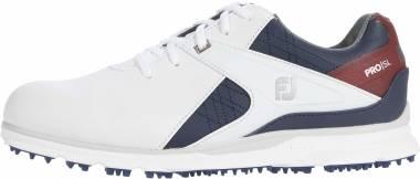 Footjoy Pro SL - White/Navy/Maroon (53848)