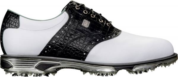 Footjoy DryJoys Tour - White/Black Croc Print
