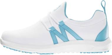 Footjoy Leisure Slip-On - White Cyan (92908)