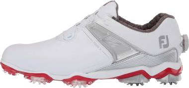 Footjoy Tour X BOA - White/ Grey/ Red (55406)