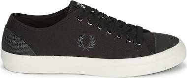 Fred Perry Hughes Low Canvas - Schwarz