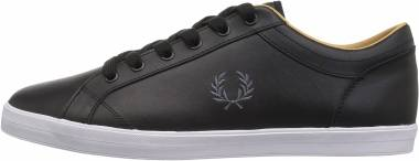 Fred Perry Baseline Leather - Black