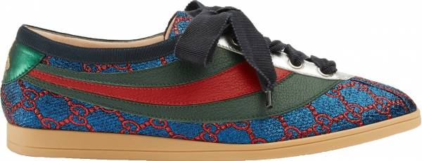 Gucci Falacer Lurex GG Sneaker with Web  - gucci-falacer-lurex-gg-sneaker-with-web-276f